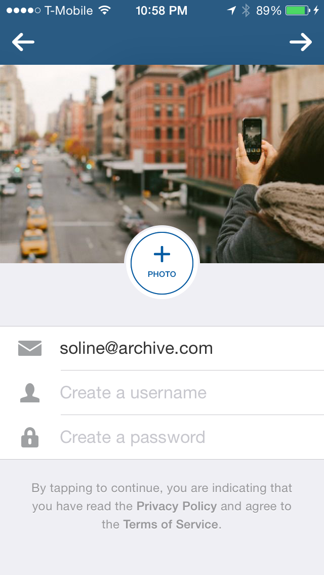 Instagram / 6.2.0 / Onboarding / Profile information