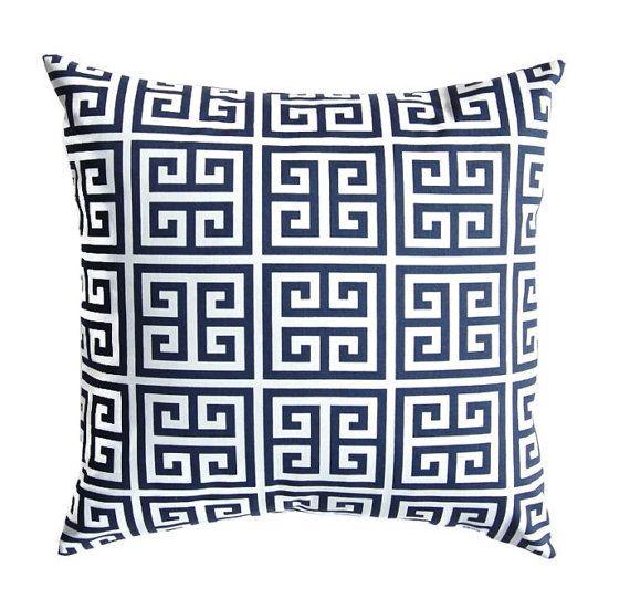 Pillow Navy Blue Pillow Blue Pillow Throw Pillow Cover Euro
