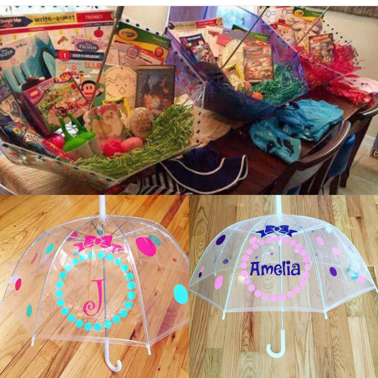 Monogrammed umbrella adult child size personalized umbrella what an adorable idea for my personalized umbrellas easter baskets negle Choice Image