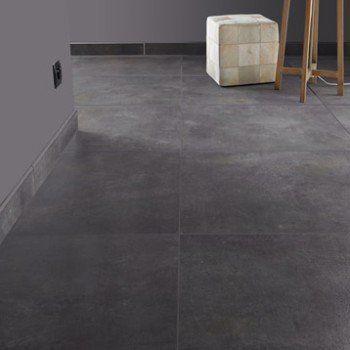 Carrelage sol et mur gris smoke effet béton Live l60 x L60 cm - peindre du ciment au sol