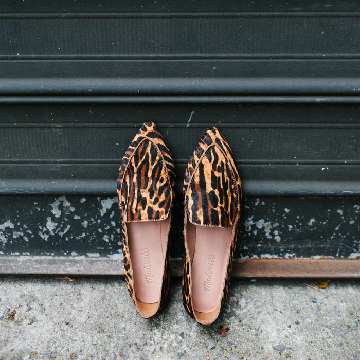 Madewell Lou Loafer in animal-print