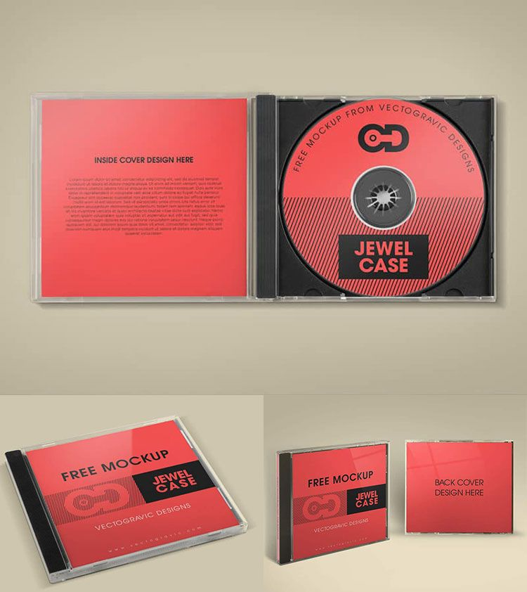 Free Cd Jewel Case Mockup  Mockups Psd Templates For Designers