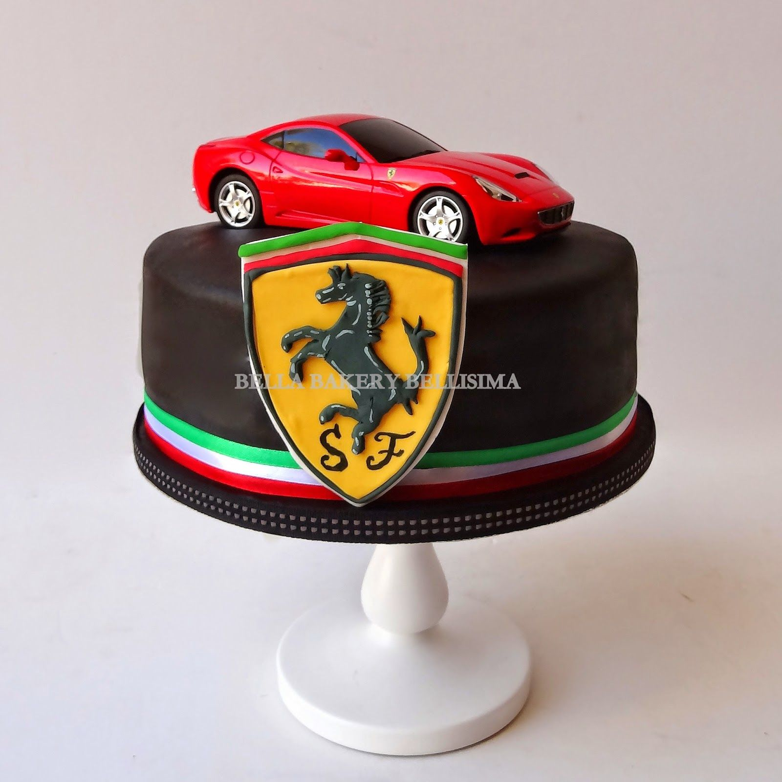 Ferrari Car Cake With Images Race Car Cakes Cars Birthday