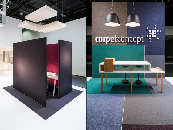 Exhibition Stand Carpet : Carpet concept flagship stand at orgatec by