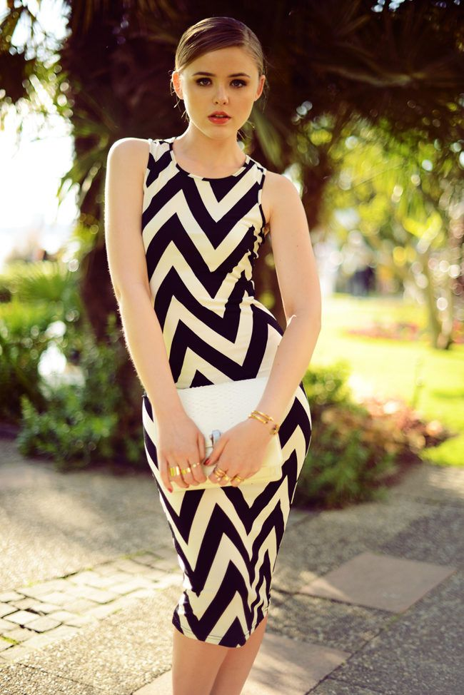 Montreux Sunlight ( Striped Dresses & Leather Clutches )