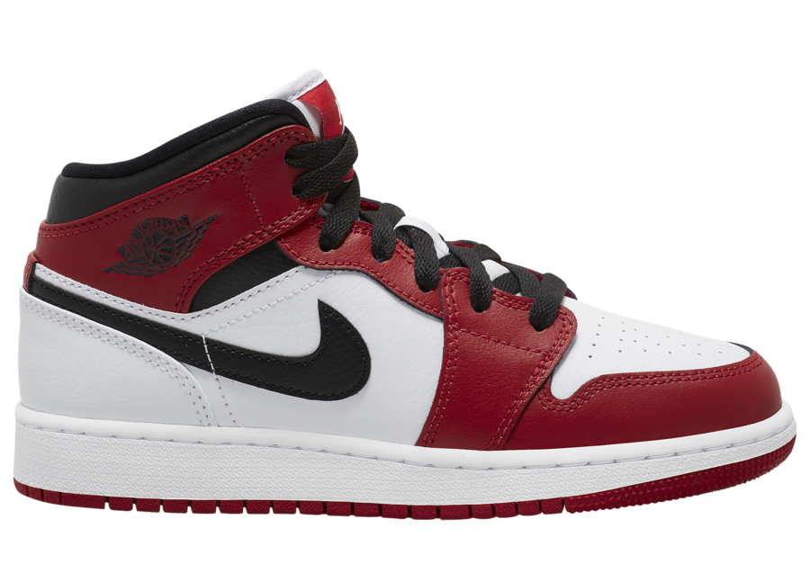Nike Air Jordan 1 Mid Chicago (GS) Gym Red White Black 554724 173 ...