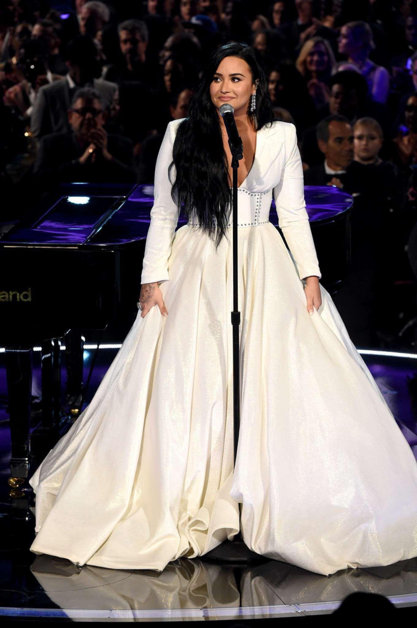 Demi Lovato White Maxi Dress Autumn Winter 2020 On Sassy Daily In 2020 Maxi Dresses Fall White Maxi Dresses Fall Dresses
