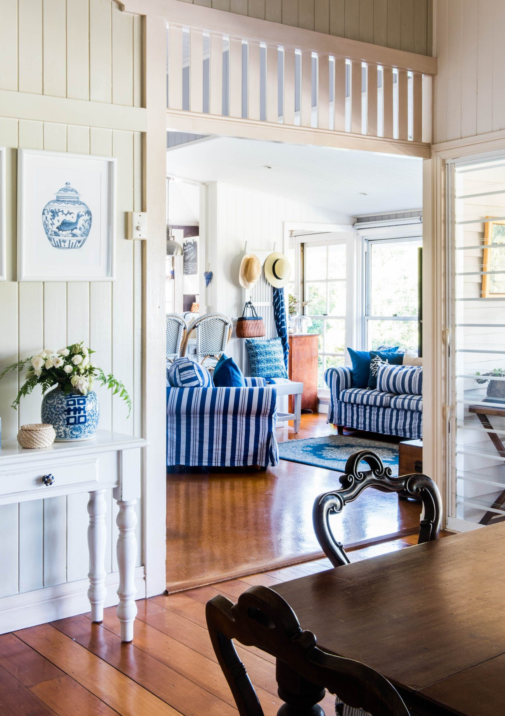 An Artist's Charming Blue and White Australian Cottage