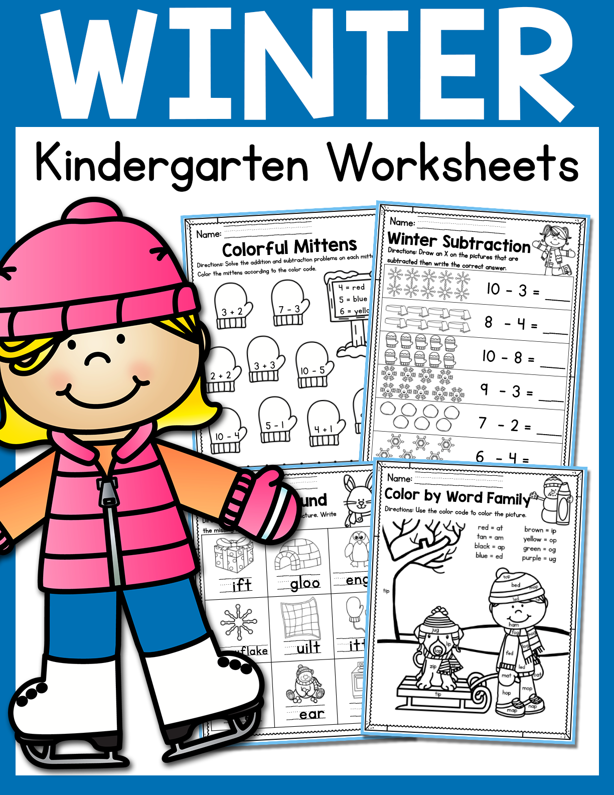 Winter Kindergarten Worksheets January In