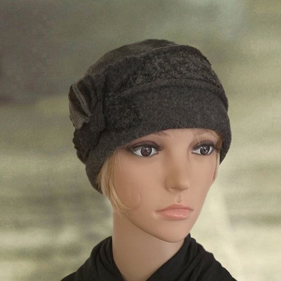 9f5df14ee Womens winter hats, Warm felted hat, Small wool cap , Ladies felt ...