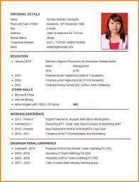 Resume For Job Application Image Result For Sample Of Cv For Job Application  Dekstap