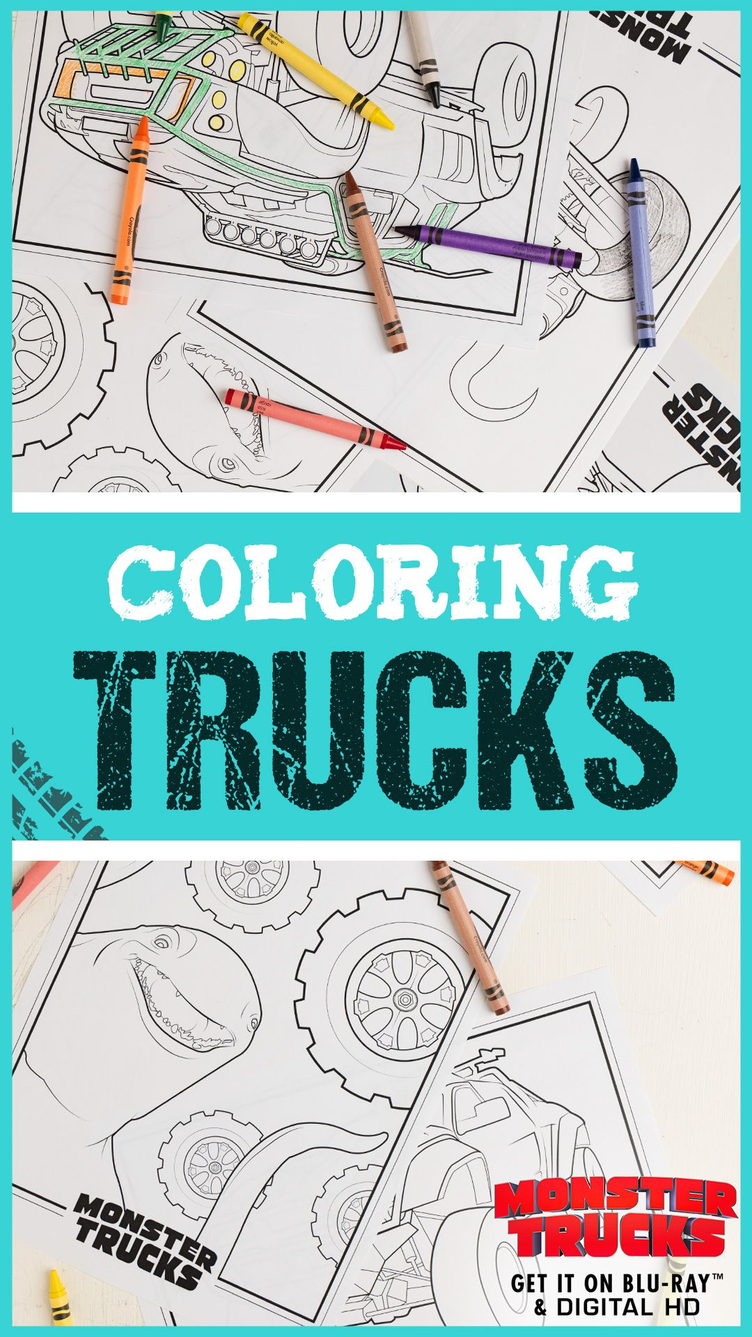 Monster Trucks Printable Coloring Pages | Drawing | Pinterest ...
