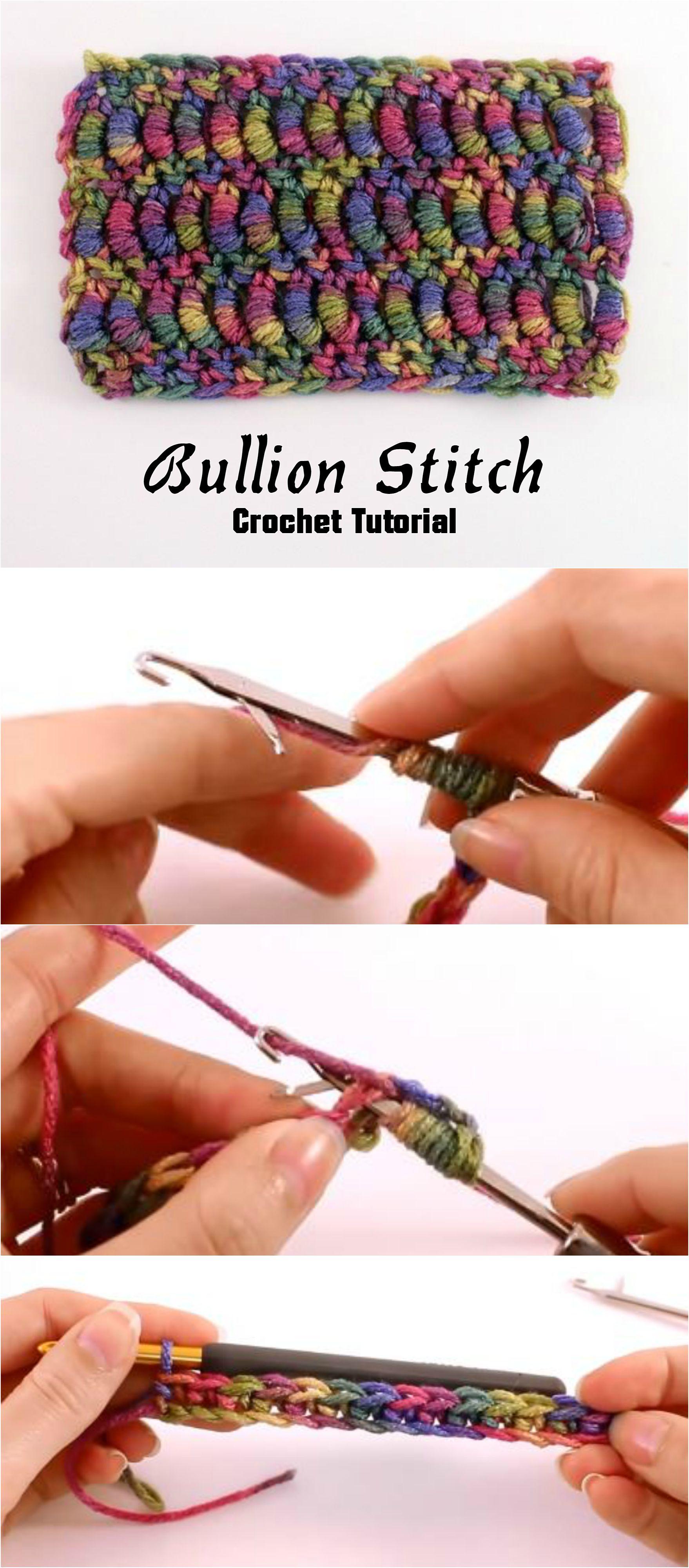 Crochet Bullion Stitch Crochet Love Pinterest Häkeln