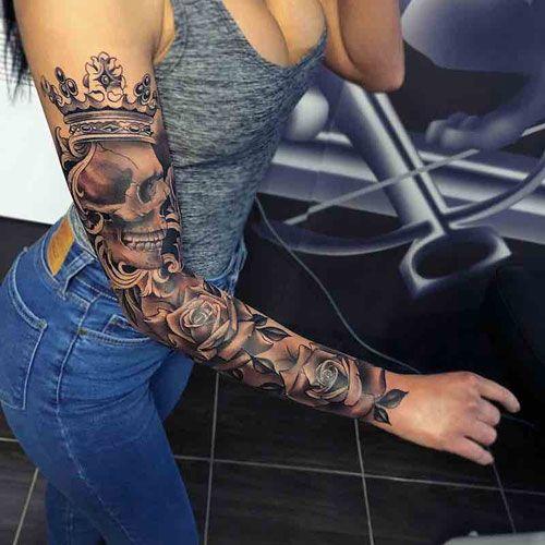 Badass Women S Tattoos Best Tattoos For Women Sleeve Tattoos For Women Arm Tattoos For Women