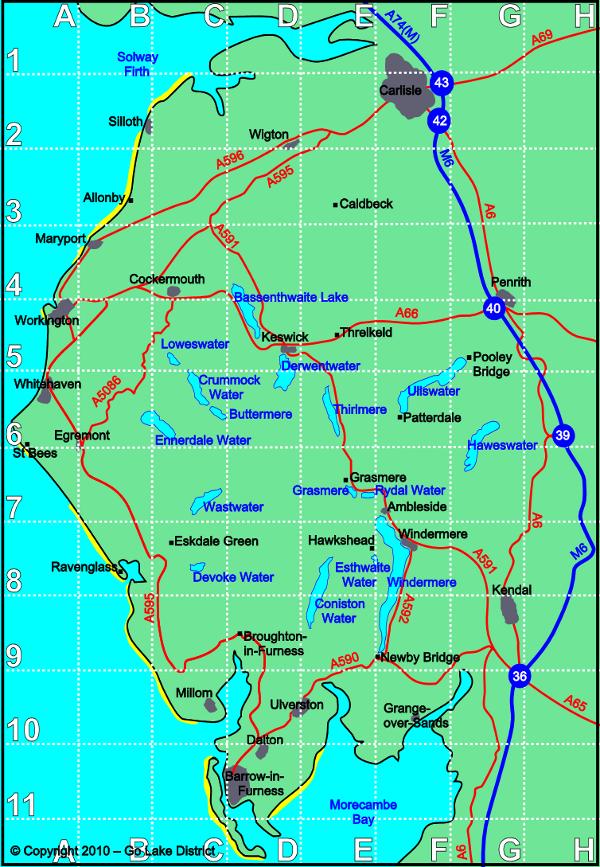 lake district hiking map Lake District Walks Lake District Lake District Walks England Map lake district hiking map