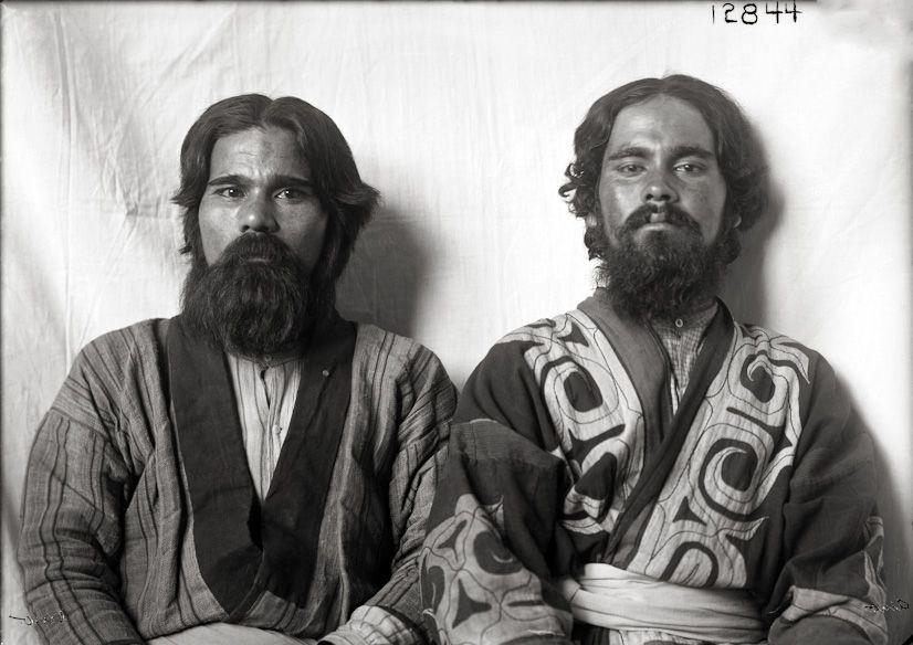 Ainu men at Louisiana Purchase Exposition, Saint Louis, 1904