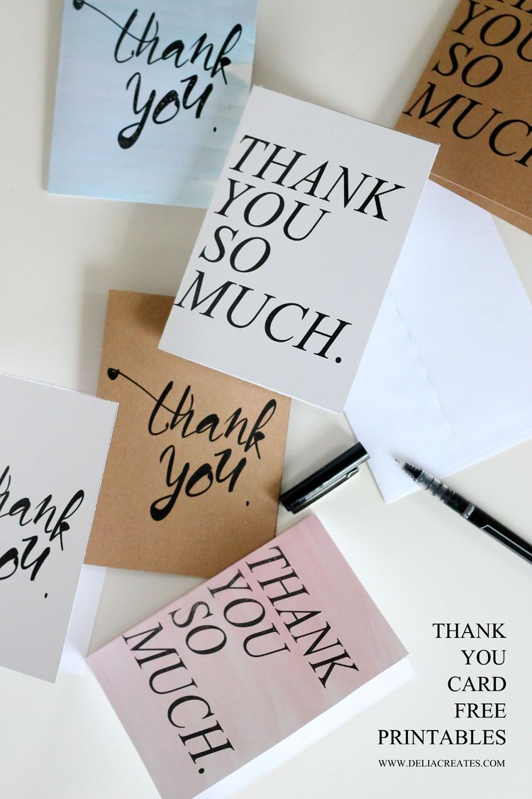 20 Free Printable Greeting Cards Diy Pinterest Thank You Cards