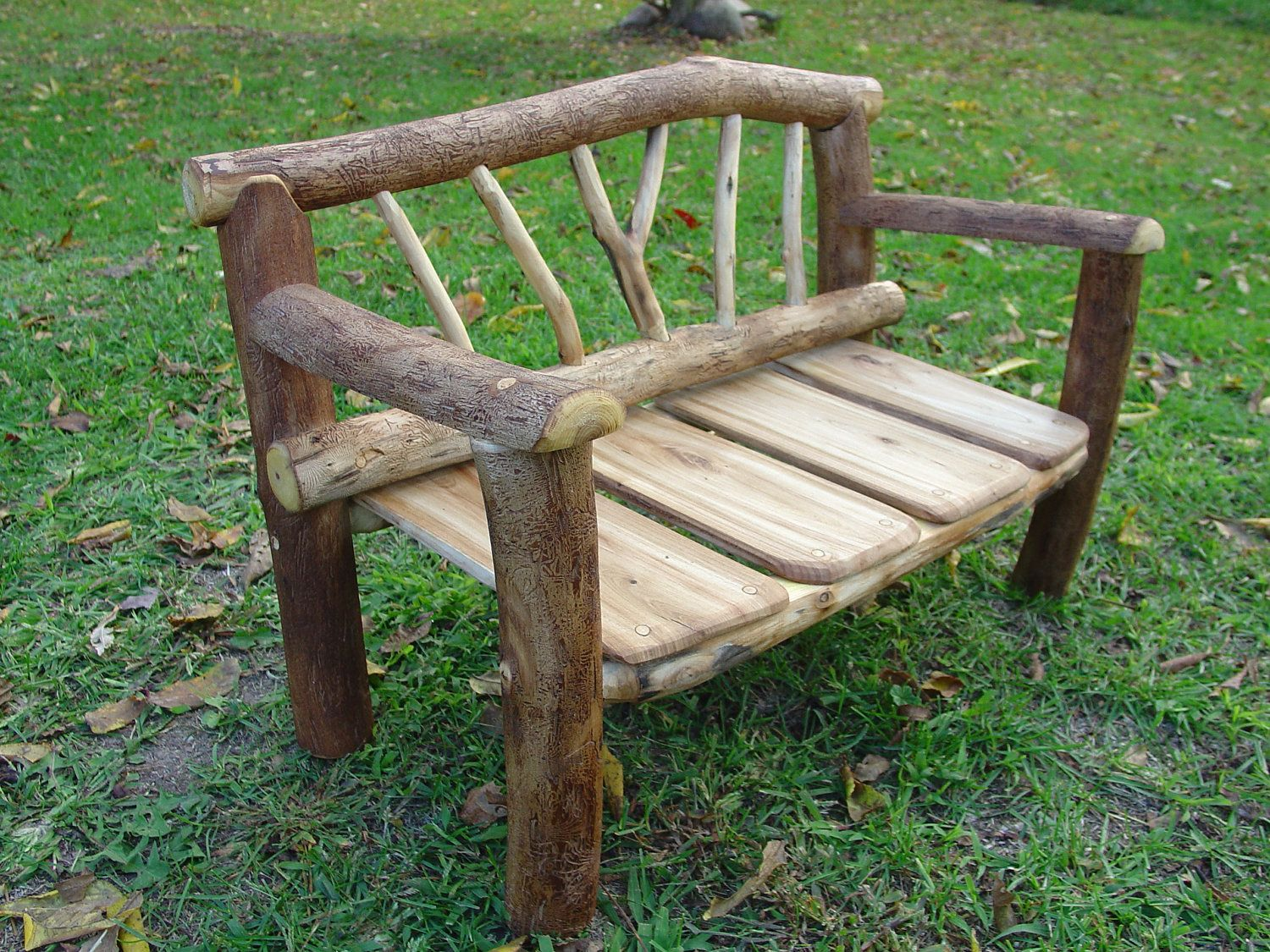 Photo Prop Rustic Log Bench 125 00 Via Etsy Want To