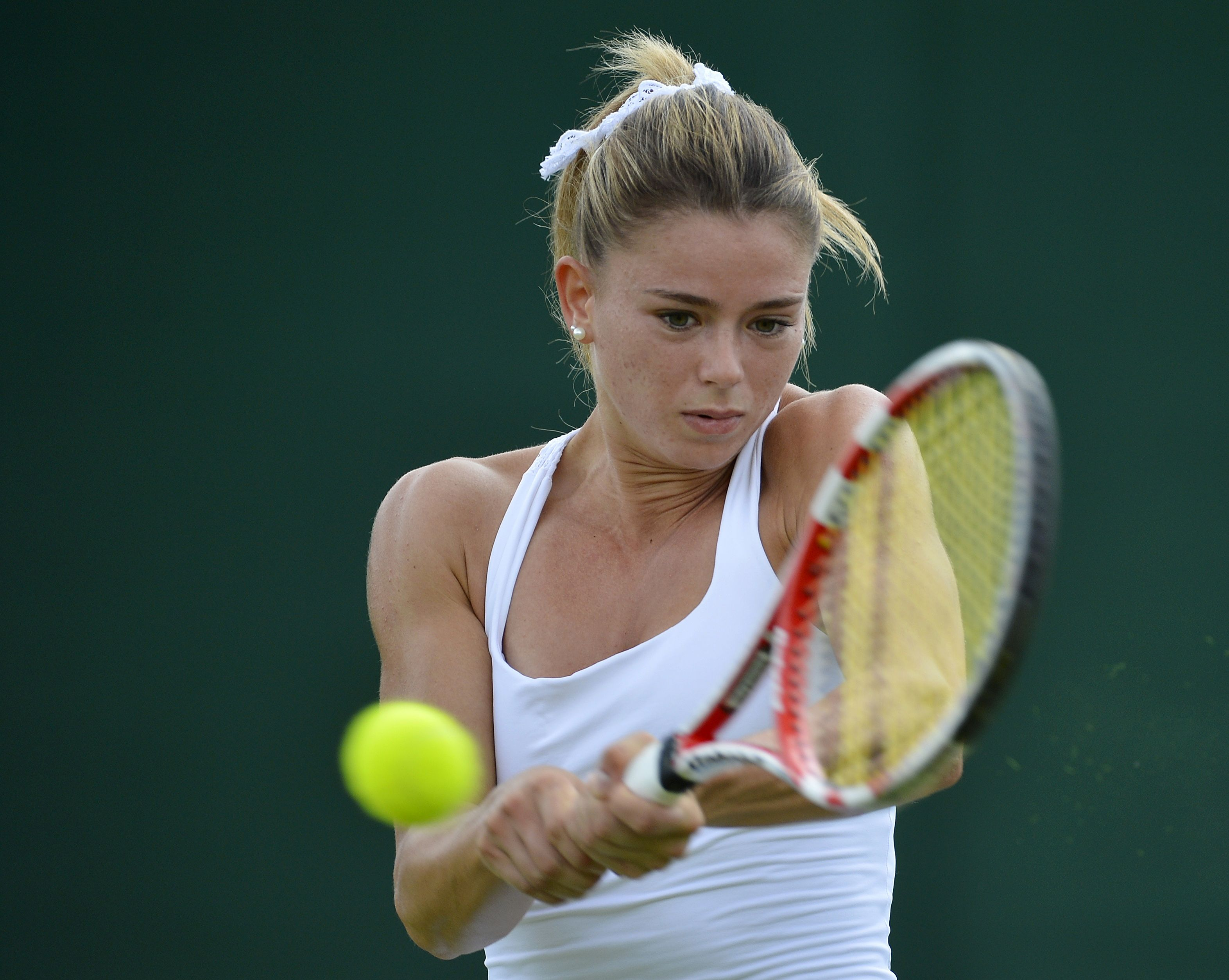 Camilia Giorgi Is An Italian Tennis Player Who Is One To Watch In 2014 At The 2014 Bnp Paribas Open Giorgi Beat Ma Tennis Players Female Tennis Camila Giorgi