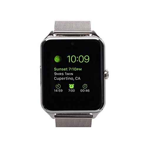 3ce5e03554c Discounted MSRM Water Splash Resistant Smart Watch Anti Lost and Hand free  for Android 4.3 above and iPhone 5s 6 6s 7 7s (Partial Functions) (GB08  Silver)