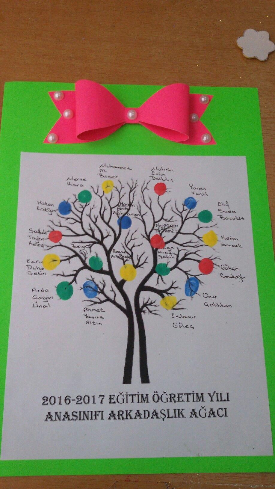 Arkadaşlık Ağacı Okul Oncesi Pinterest Arkadaşlık Okul Ve