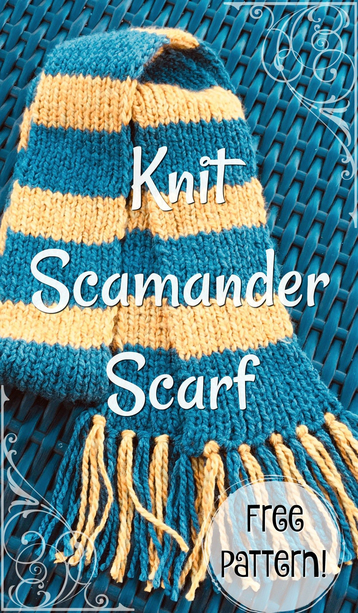 Knit scamander scarf newt scamander scarf knitting