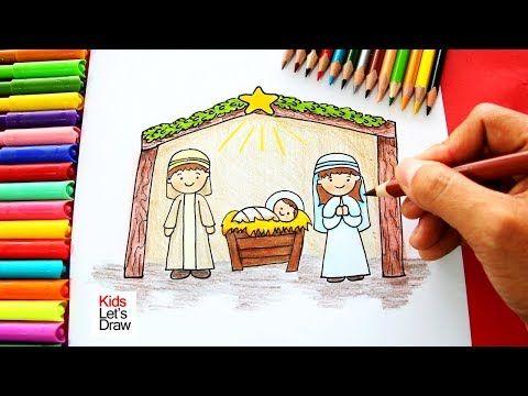 Como Dibujar El Nacimiento De Jesus Navidad How To Draw The Birth Of Jesus Nacimiento De Jesus Jesus Para Dibujar Dibujos De Jesus