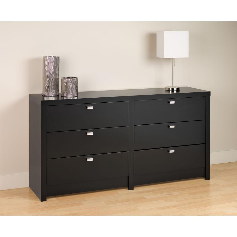 Best 58 5 Inch X 29 75 Inch X 15 25 Inch 6 Drawer Dresser In Black Dresser Drawers Six Drawer Dresser 400 x 300