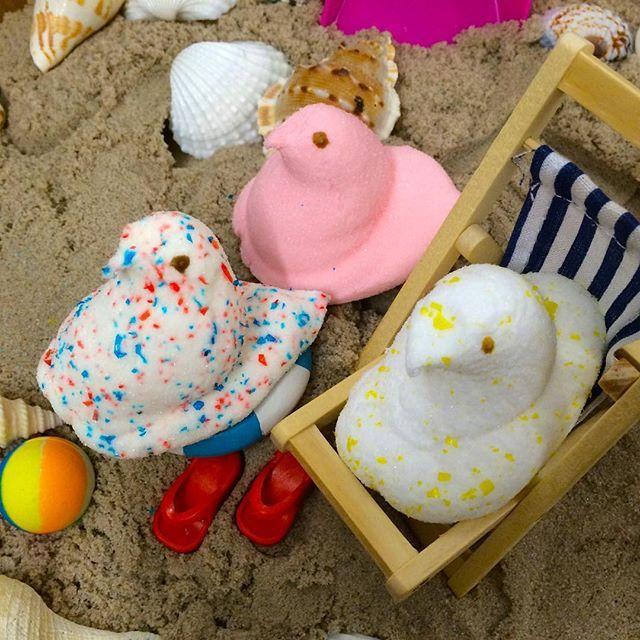 SnapWidget | Vanilla Crème, Sweet Lemonade& Bubble Gum… @PEEPSBrand summer flavors are SO YUM!