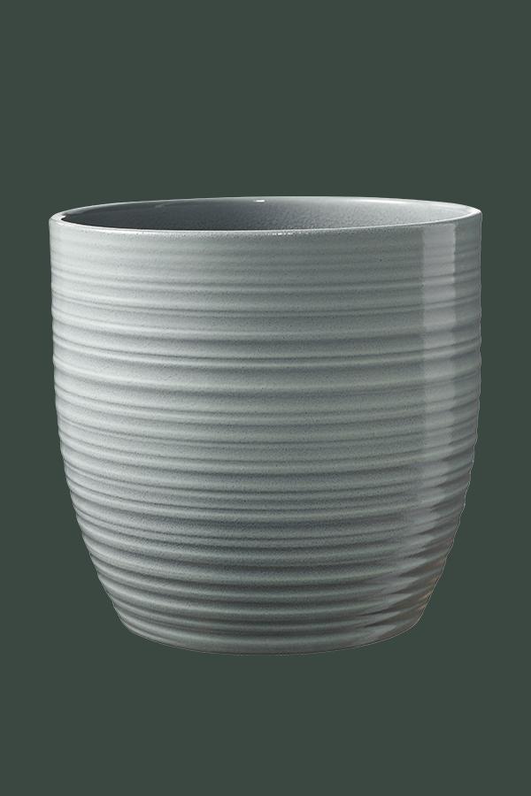 Blumentopf Soendgen Bergamo Lasur Keramik O 13 H 12 Cm Mintgrun