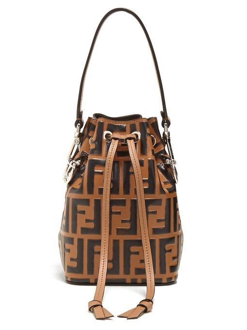 Fendi My Treasure logo-embossed leather bucket bag | new | Pinterest |  Bucket bags, Emboss and Leather
