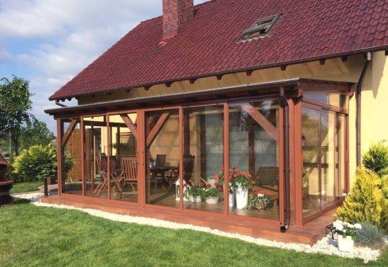 Terasa Cu Acoperis Si Pereti Din Sticla Culisanti Outdoor Pergola Backyard Patio Designs Patio