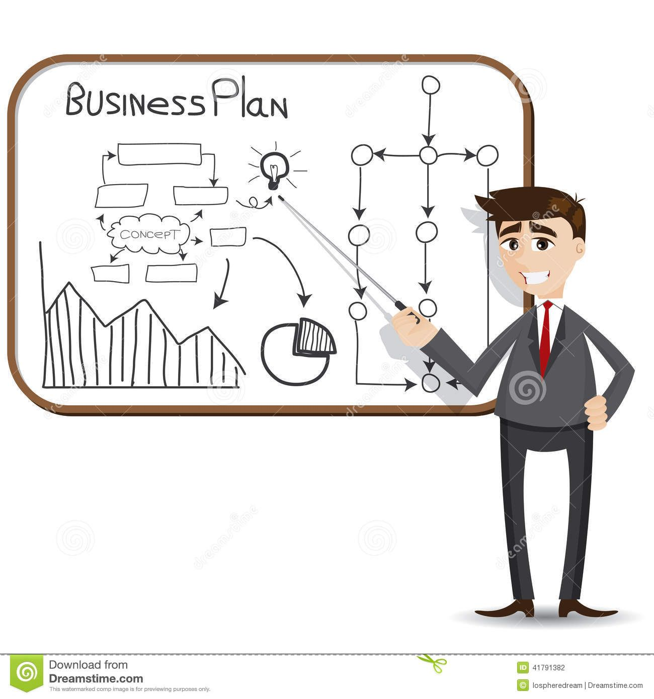 cartoon-businessman-presentation-business-plan-illustration-41791382 ...