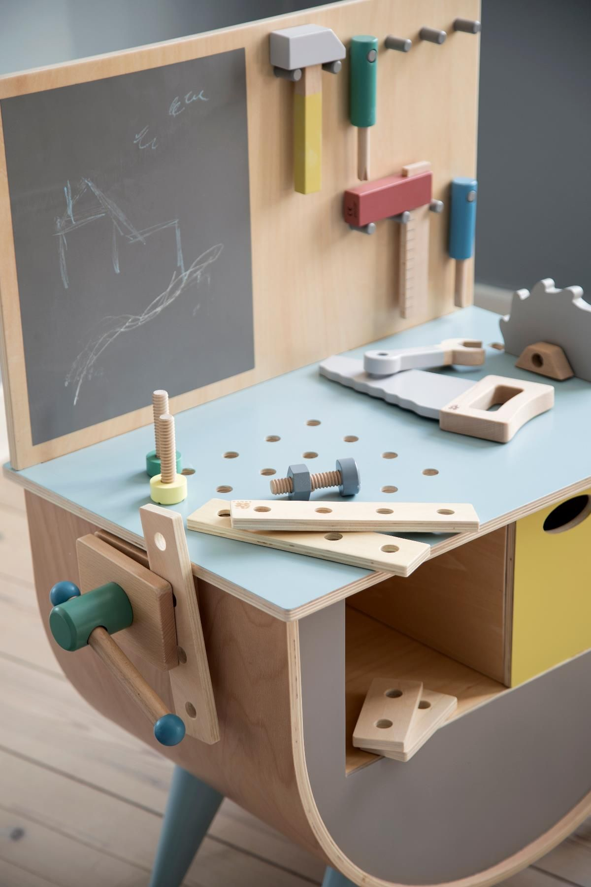 Play tool bench, warm grey in 2020 Warm grey, Wooden gifts