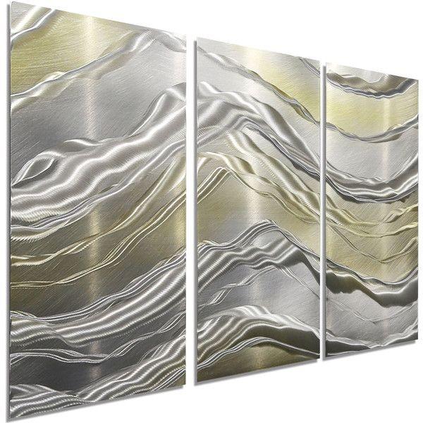 New Silver  Gold Modern Metal Wall Art Contemporary Home Decor