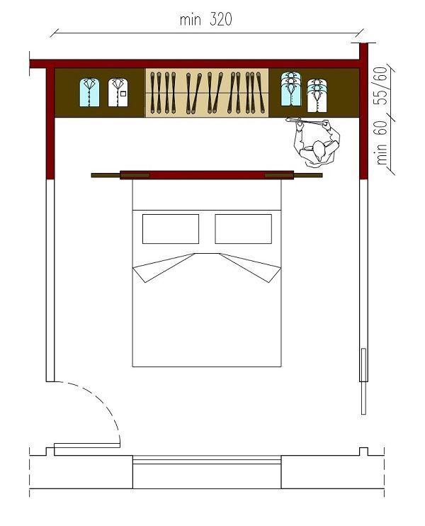 Ankleidezimmer Progetto Schlafzimmer Kleiderschrank Hinter Bett Schrankbett