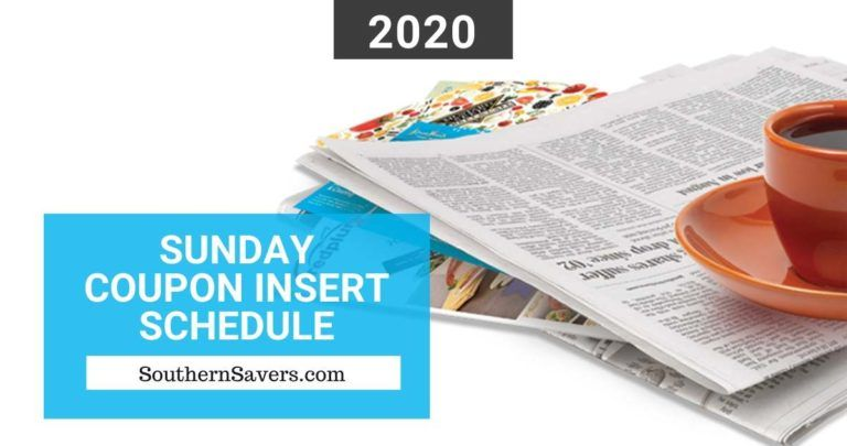 2020 Sunday Coupon Insert Schedule Printable Calendar Sunday Coupons Coupon Inserts Sunday Paper Coupons