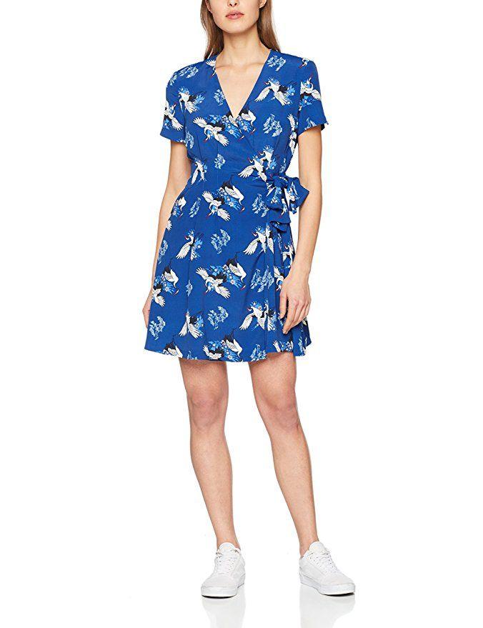 Molly Bracken Damen Kleid Robe Envole-Moi, Blau (Blue), Medium ...