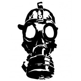 Zombie Face With A Gas Mask Decal In 2020 Gas Mask