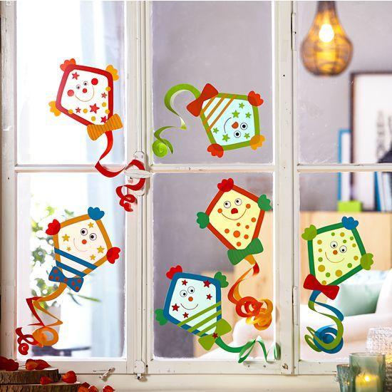Sachenmacher Fensterbilder Drachen JAKO-O, Bastelset für 6 Stück #fensterdekoherbst