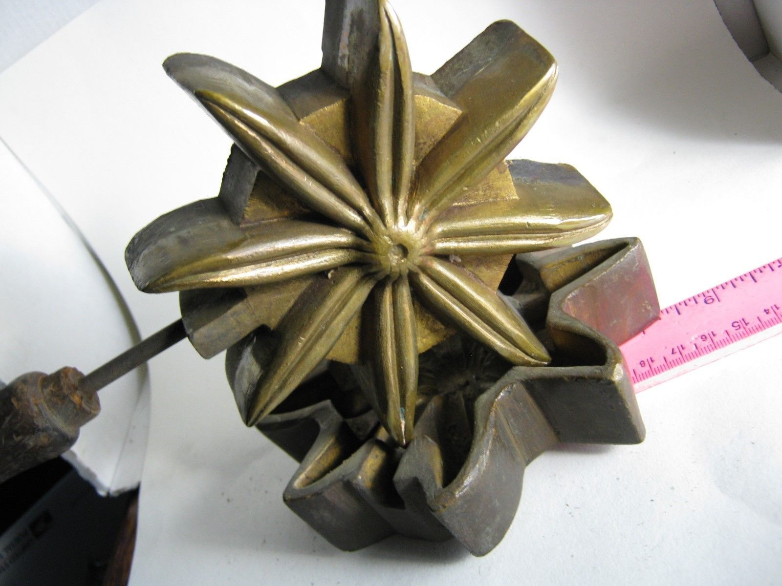 Antique a f tool co ny millinery silk flower bronze mold large full antique a f tool co ny millinery silk flower bronze mold large full flower ebay mightylinksfo Gallery