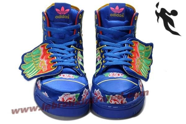 Adidas X Jeremy Scott Wings Embroidery Blue Shoes  Balance