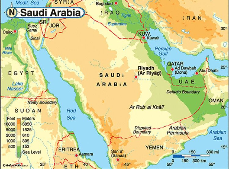 Saudi Arabia is a country in the Middle East the largest country