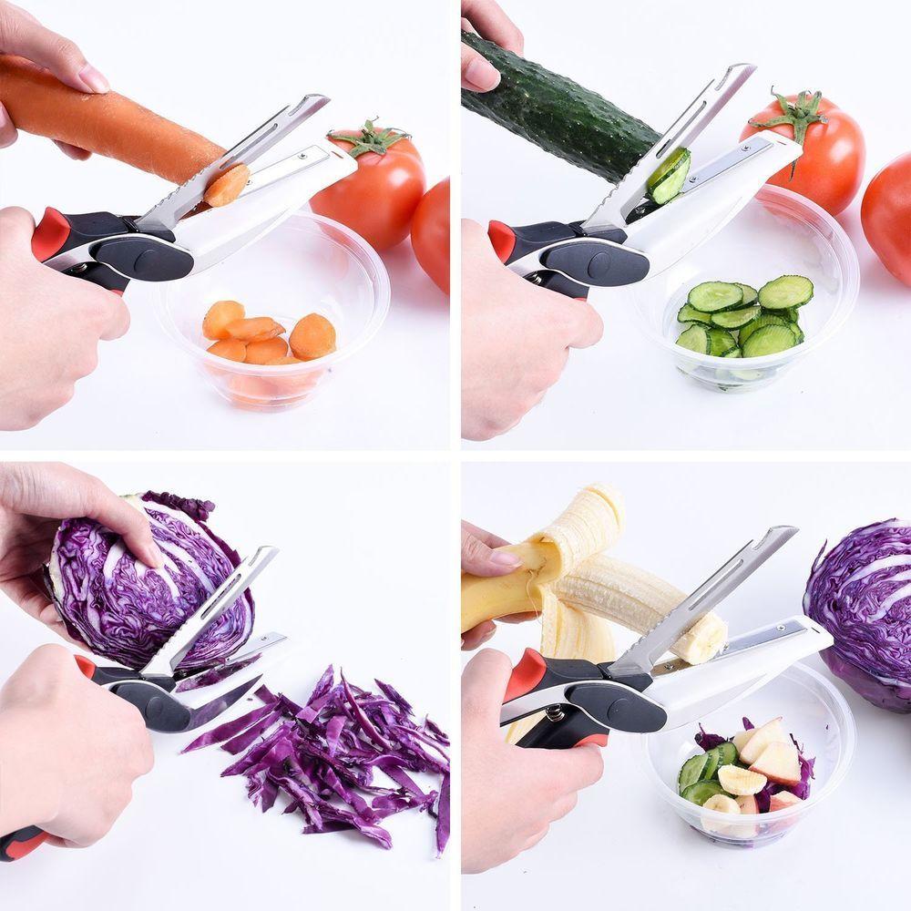 6in1 Food Chopper/Slicer/Cutter/Dicer/Carver Universal Knife Board & Sharpener #Forsous
