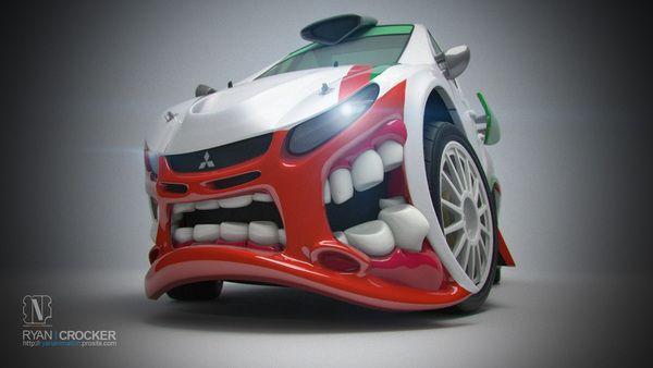 Mitsubishi Rally Beast by Ryan Crocker, via Behance