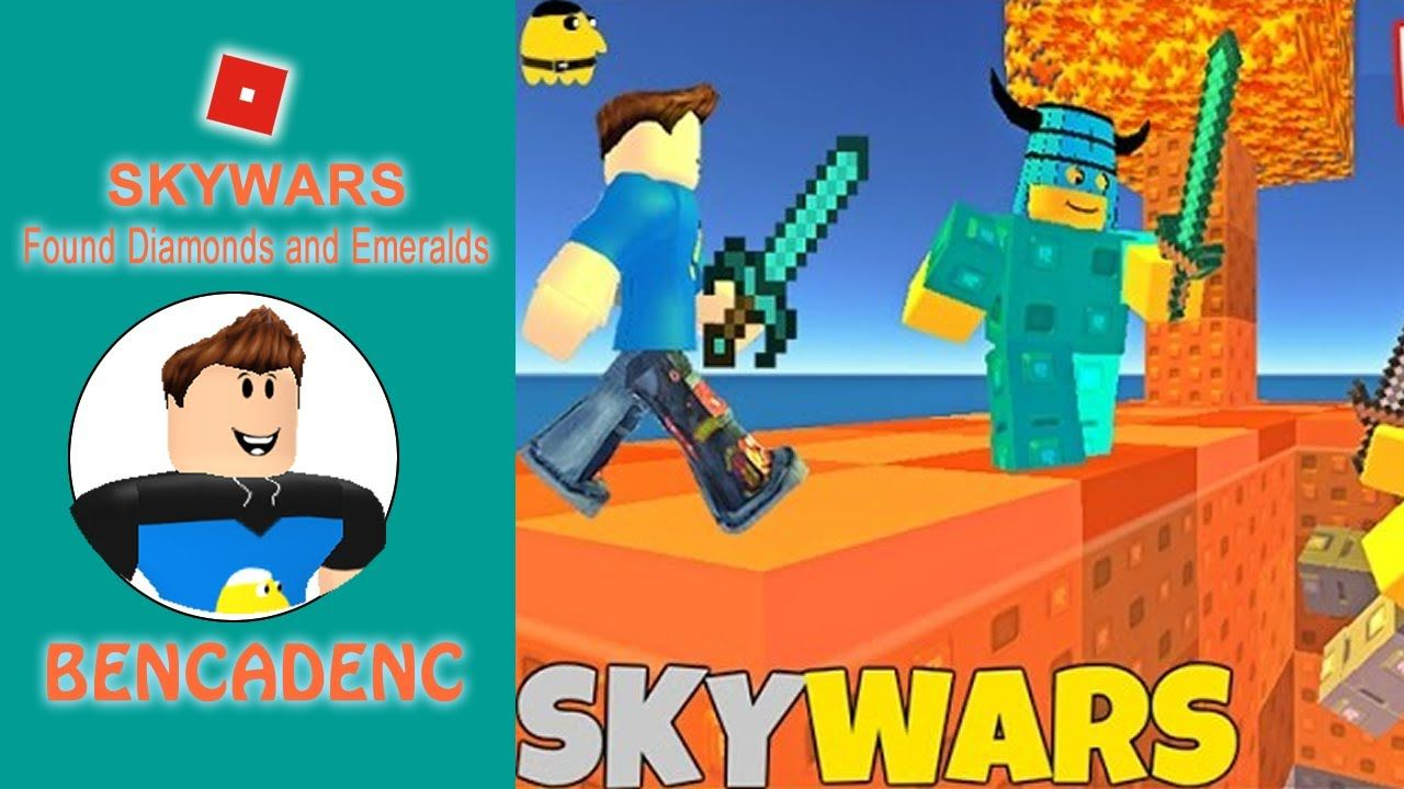 Roblox Adventures Skywars Found Diamonds And Emeralds During