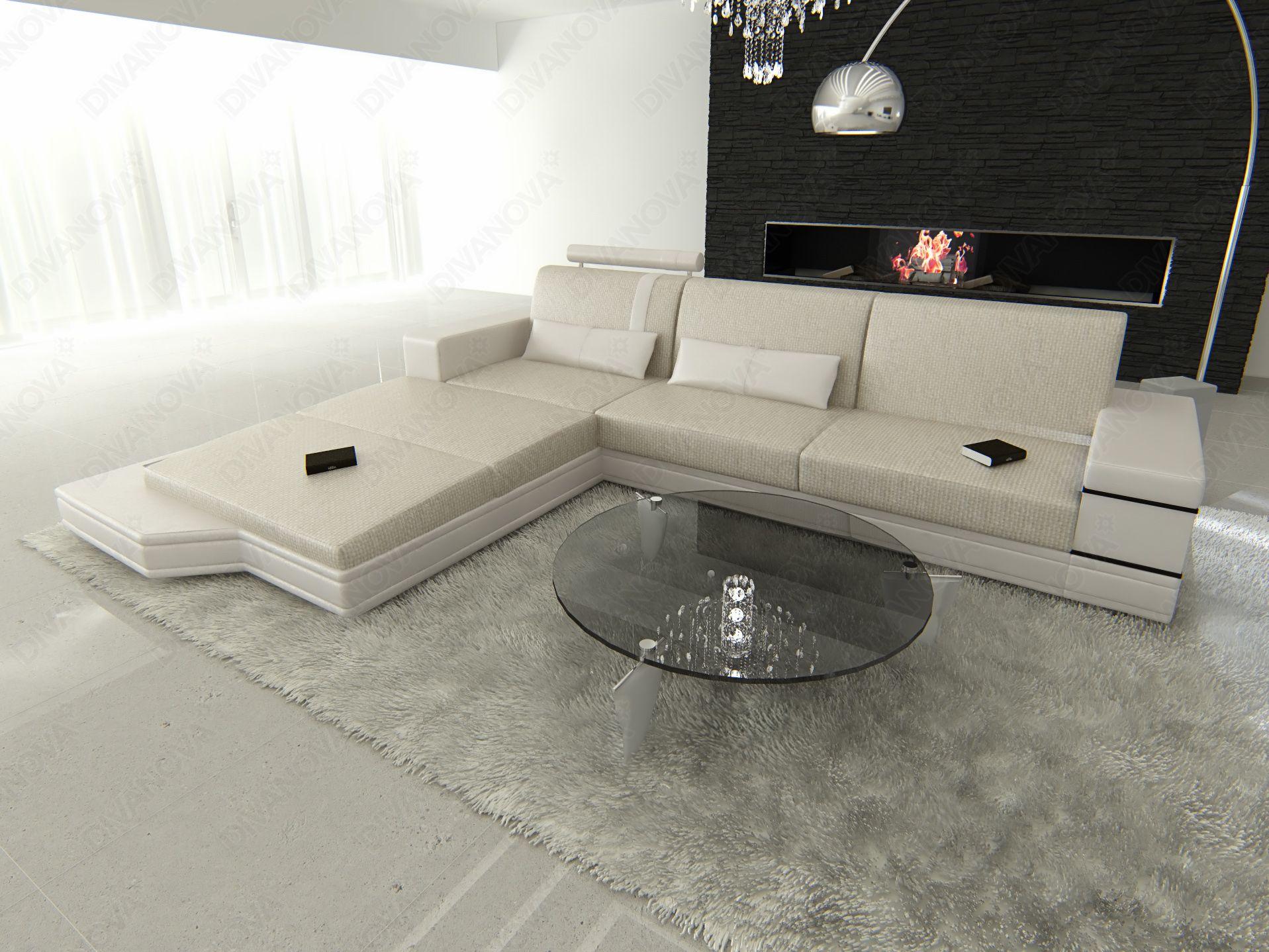 Proxima divano angolare a 3 posti con penisola in tessuto strutturato proxima divano - Divano con penisola dwg ...