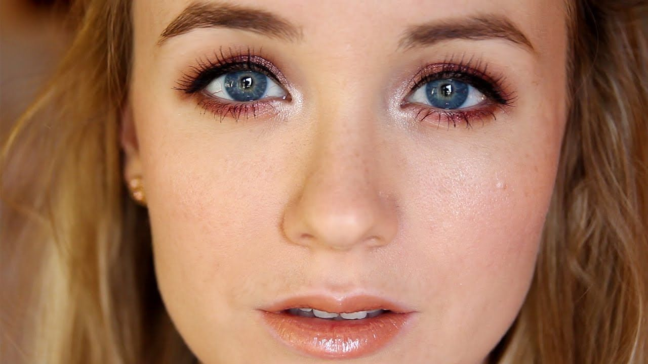 The Best Eye Makeup For Blue Eyes Warm Brown Shadow
