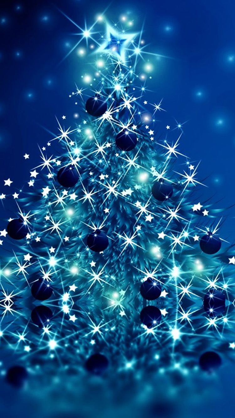 The latest Blue Christmas theme iPhone 6 Wallpaper | Christmas ...