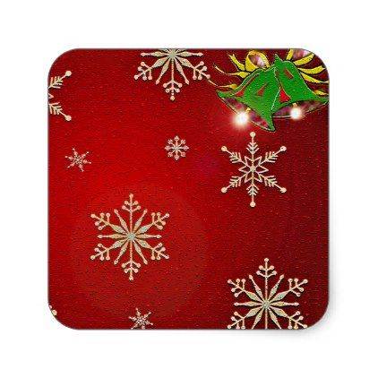 Merry christmas gift wrapping supplies square sticker merry merry christmas gift wrapping supplies square sticker merry christmas diy xmas present gift idea family negle Image collections